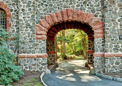 Archway to the other side Kip's Castel Verona NJ by Geraldine Scull