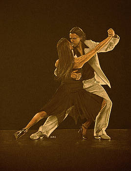 Argentine tango dancers by Martin Howard