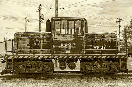 Army Train Vintage by Emily Kay