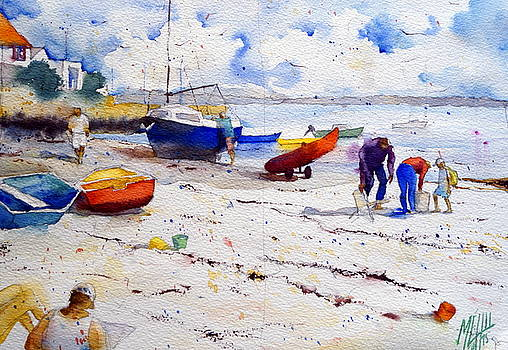 Arrival at the beach by Andre MEHU