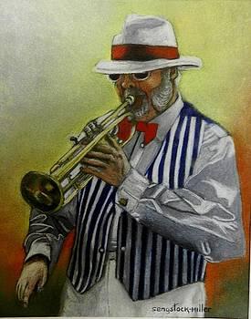 Art Deco Jazz Man by Sandra Sengstock-Miller