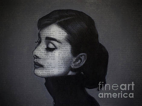 Art in the News 98-Audrey Hepburn by Michael Cross