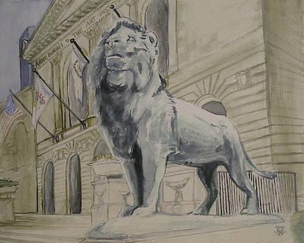 Art Institute of Chicago Lion by Jeffrey Oleniacz
