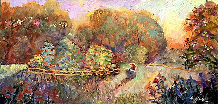 Artist Paints Dahlia Garden by Lisa Blackshear