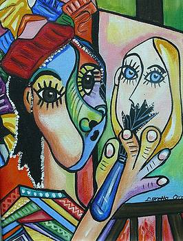 Artist Picasso style by Loretta Orr
