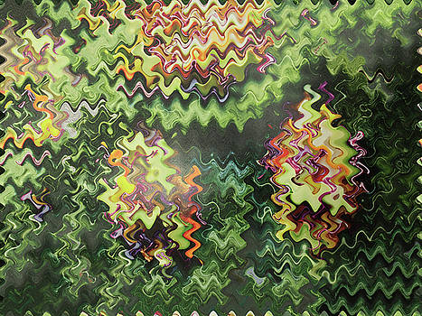 Artistic digital fineart graphic waves from Veggie Green Salad christmas birthday holidays mom dad  by Navin Joshi