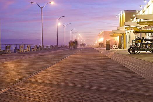 Asbury Park Boardwalk at Night by Andrew Kazmierski