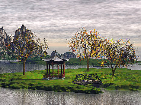 Asian Landscape by John Junek
