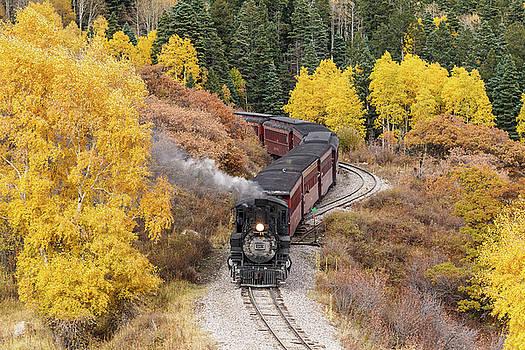 Aspen Curves On The Rails by Steven Bateson