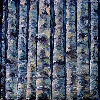 Aspen forest in the Rocky Mountains by OLenaArt Lena Owens