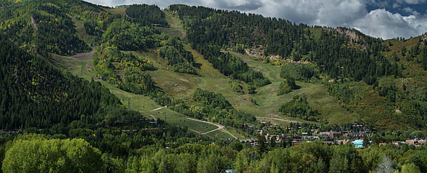 Aspen Mountain Late Summer by Steve Gadomski