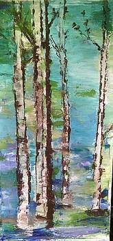 Aspen Spring Trees by Katie McGuire
