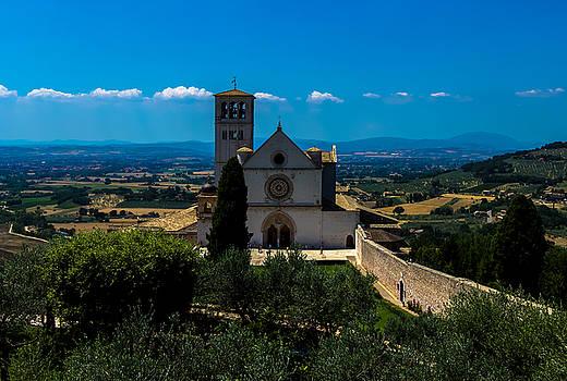Assisi-Basilica di San Francesco by Cesare Bargiggia