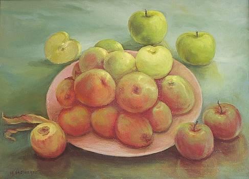 Assortment of Apples by Michael Chesnakov