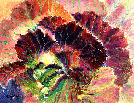 Astonishing Cabbage  Pastel by Antonia Citrino