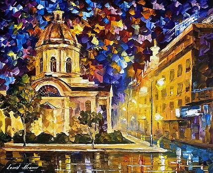 Asuncion Paraguay - PALETTE KNIFE Oil Painting On Canvas By Leonid Afremov by Leonid Afremov