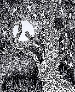 At Night Beside The Twisted Tree by Yvonne Blasy