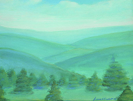 Atmosphere in green and blue by James Violett II