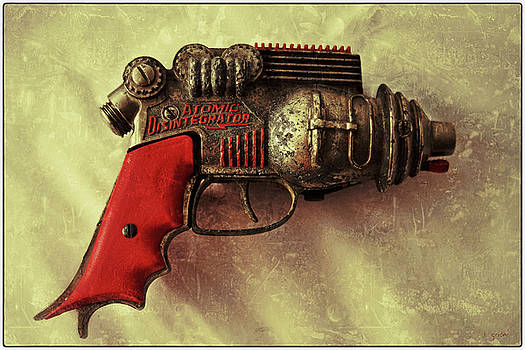 Atomic Disentigrator Ray Gun Steampunk Relic With Border by Tony Grider