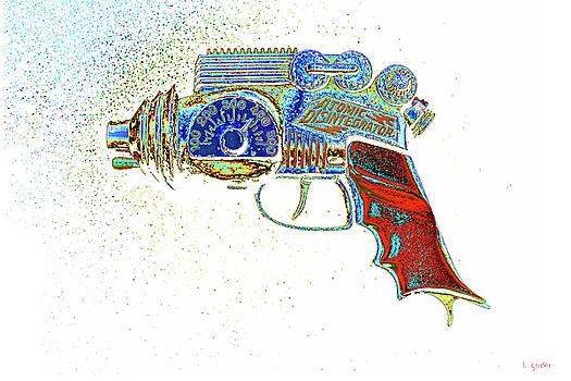 Atomic Disintegrator Ray Gun Particle Blaster Pop Art by Tony Grider