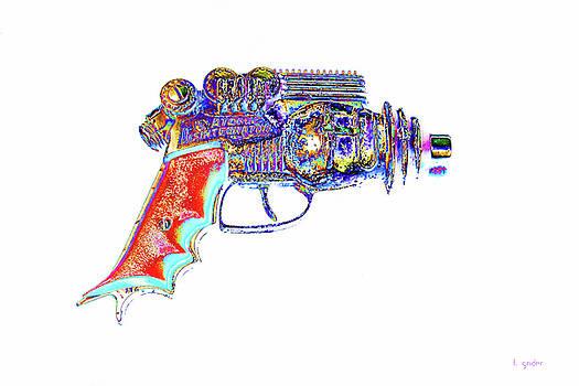 Atomic Ray Gun Digital Pop Art by Tony Grider