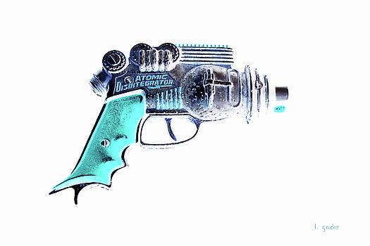 Atomic Ray Gun Digital Pop Negative by Tony Grider