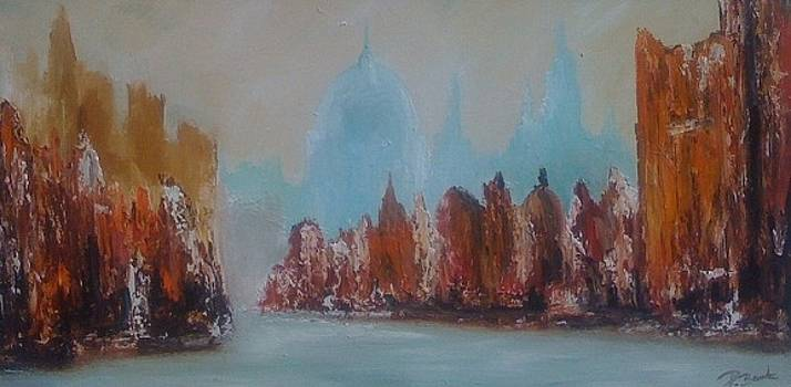 Au loin la basilique by Patrice Brunet