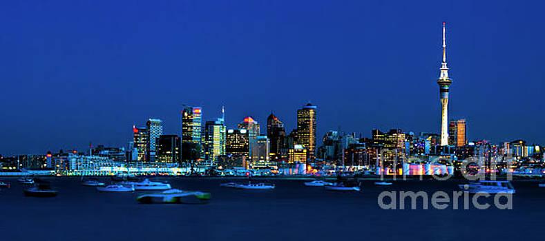 Auckland City Night Lights by Karen Lewis