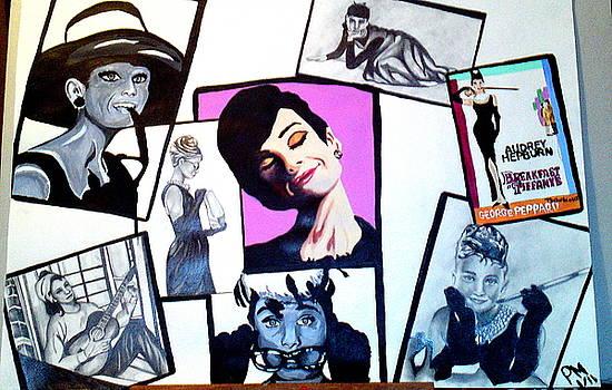 Audrey Hepburn Snapshots by Pauline Murphy