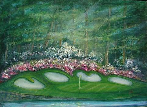 Augusta National Perfect Golf Day II by Phyllis OShields