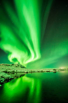 Aurora Borealis Angel by Petur Mar Gunnarsson
