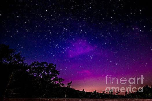 Aurora in the Catskills by Jim DeLillo
