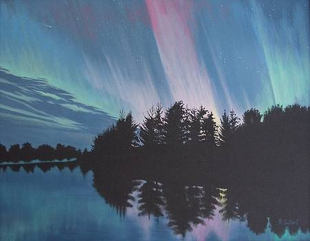 Aurora over Wisconsin by Rick Gallant