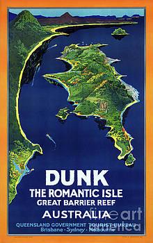 Australia Dunk Restored Vintage Travel Poster by Carsten Reisinger