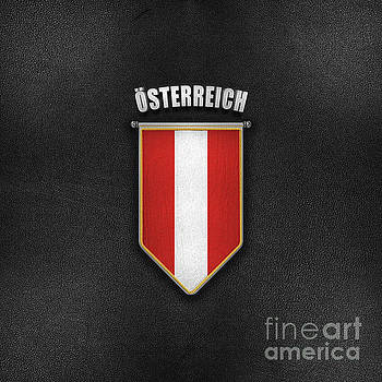 Austria Pennant with high quality leather look by Carsten Reisinger