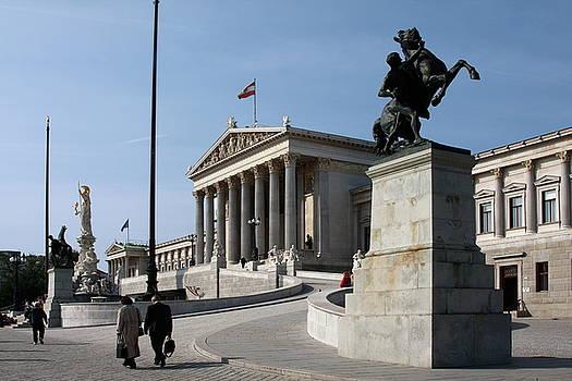 Austrian Parliament by Sally Weigand