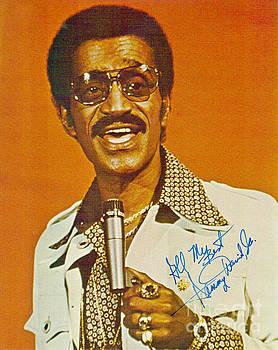 Autographed Print of Sammy Davis Jr by Pd