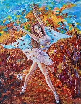 Autumn Angelic Ballerina by Yelena Rubin