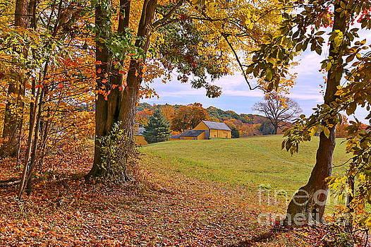 Autumn At The Gold Barn by Marcel  J Goetz  Sr