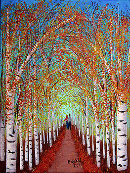 Autumn Birch by Maggie Ullmann