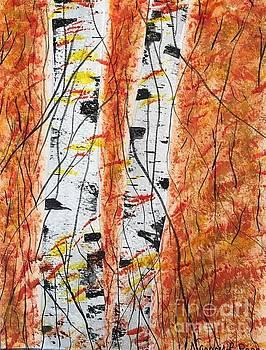 Autumn Birch by Nancy Pace