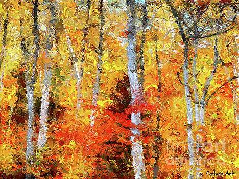 Autumn Birches by Dragica Micki Fortuna