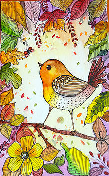 Autumn birds by Charu Jain