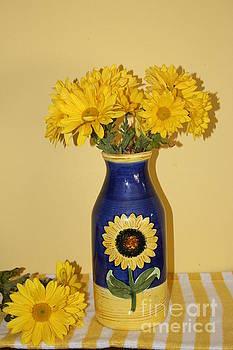 Autumn Blossoms and Blue Vase by Dora Sofia Caputo Photographic Art and Design