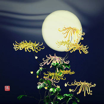 Autumn Chrysanthemums 4 by GuoJun Pan
