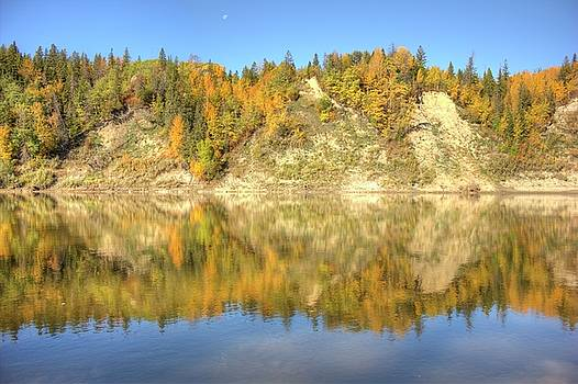 Autumn Colors on the North Saskatchewan River by Jim Sauchyn