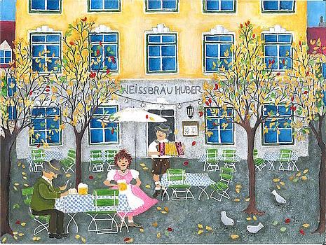 Autumn day in the beergarden by Stefanie Stark