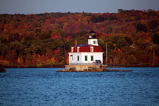 Autumn Evening at Esopus Lighthouse by Jeff Severson