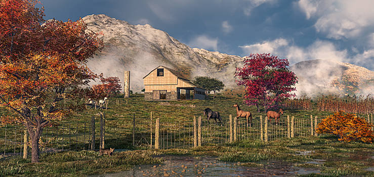 Autumn Farm by Mary Almond