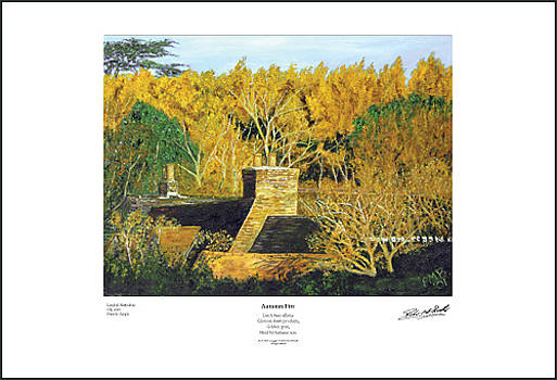 Autumn Fire - Giclee Print by Peter Mark Butler